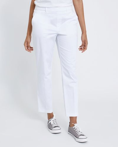 Cotton Pull On Slim Leg Trousers