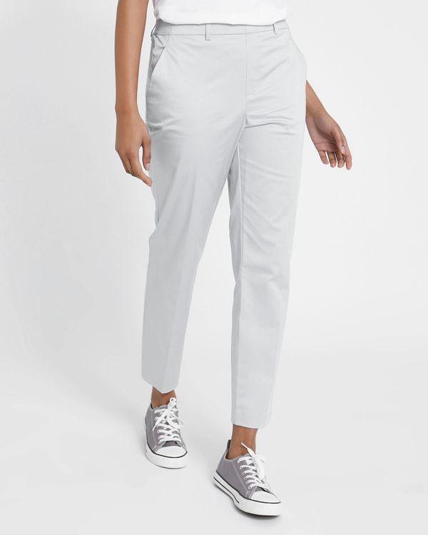 Cotton Pull On Slim Leg Trouser