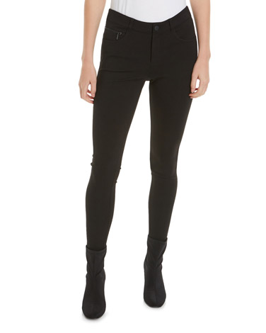 blackZip Ponte Skinny Trousers