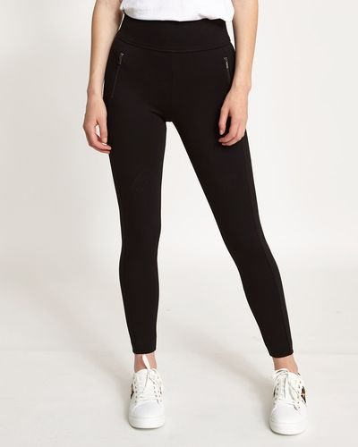 Elastic Zip Treggings