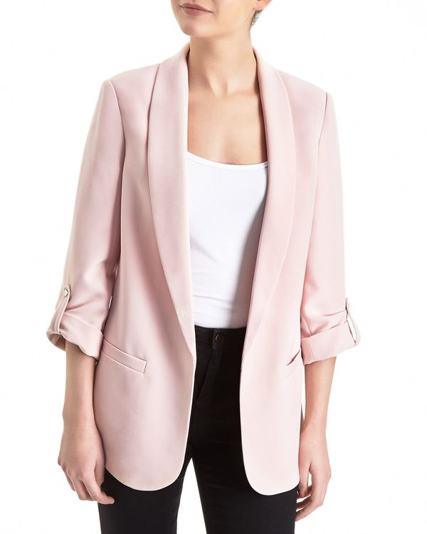 Edge To Edge Roll Sleeve Jacket