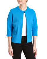 blue Unlined Raglan Sleeve Jacket