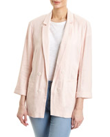 blush Linen Blend Double Breasted Jacket