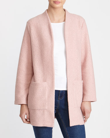 blush Boucle Edge To Edge Coat