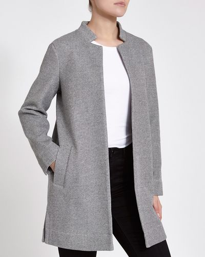 Pique Notch Neck Coat