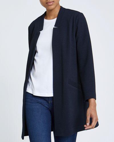 Longline Unlined Textured Jacket