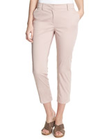 blush Cotton Rich Cropped Trousers