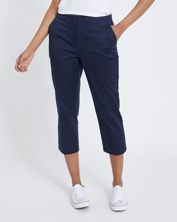Cotton Rich Cropped Trousers