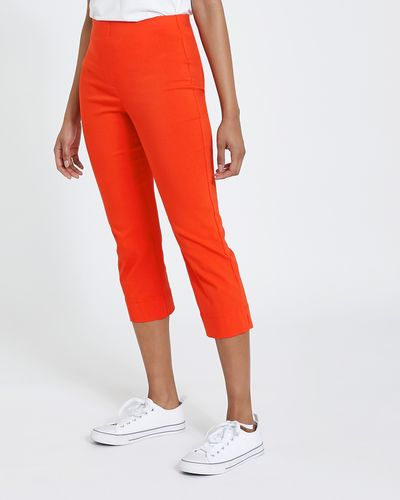 Pull On Stretch Crop Trousers
