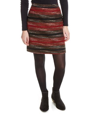 redRed Stripe Skirt