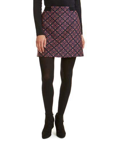 Jacquard Elastic Waist Skirt thumbnail