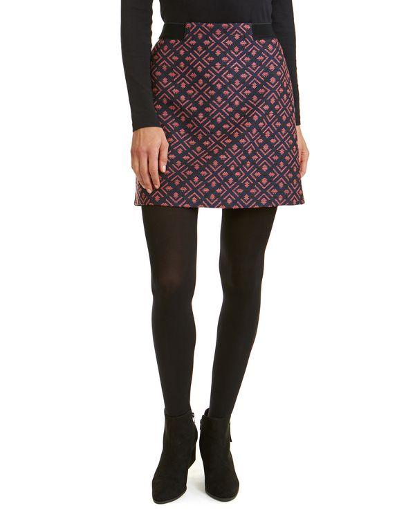 Jacquard Elastic Waist Skirt