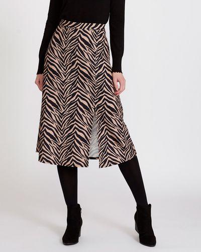 Zebra Midi Skirt thumbnail