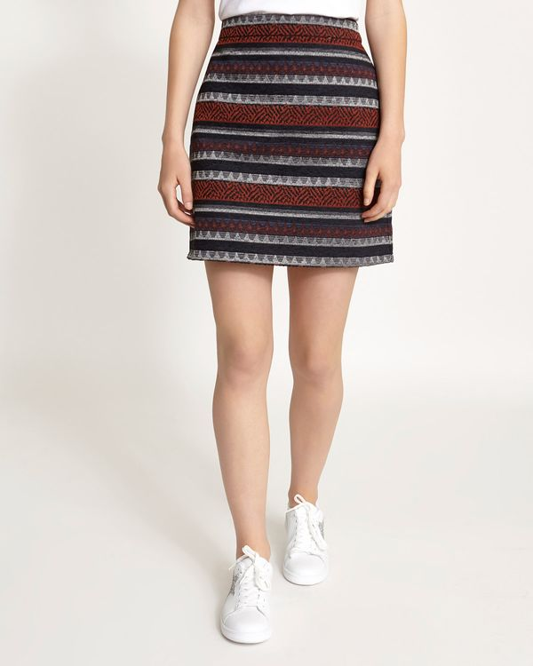 Aztec Textured Mini Skirt