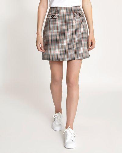 Check Button Detail Skirt thumbnail