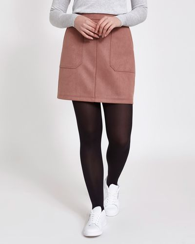 Faux Suede Twill Mini Skirt thumbnail