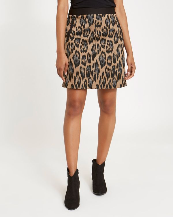 Animal Ponte Skirt