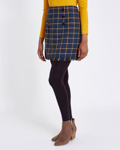 Check Button Mini Skirt