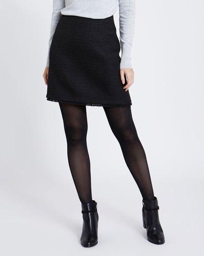 Solid Boucle Mini Skirt