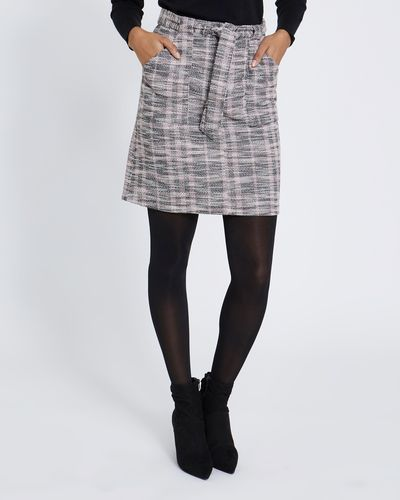Check Belted Mini Skirt