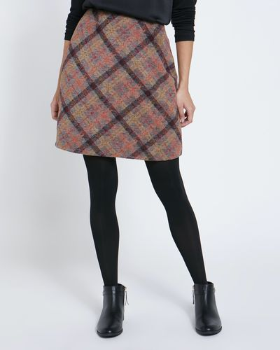 Brushed Check Mini Skirt
