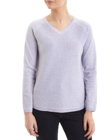 lilac V-Neck Jumper