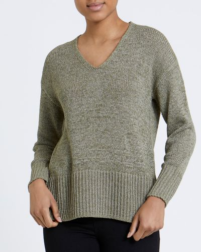 V-Neck Tape Yarn Jumper