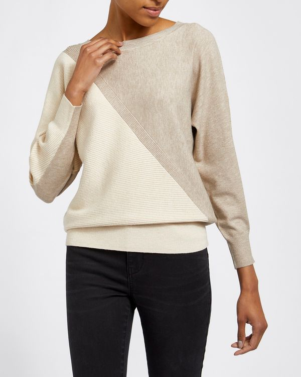 Two Tone Batwing Jumper