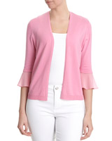 pink Woven Cuff Shrug
