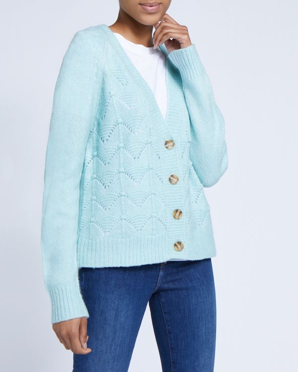 Cable Button Cardigan