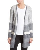grey Stripe Chevron Cardigan