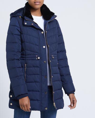 Long Faux Fur Collar Coat thumbnail