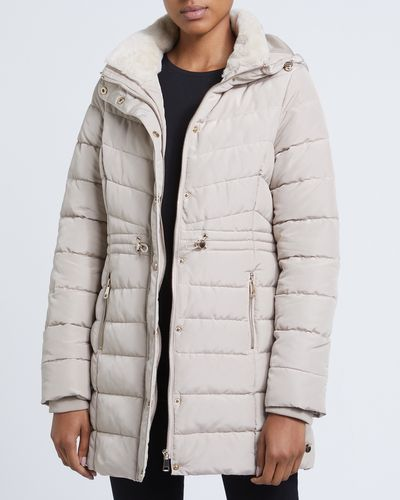 Long Faux Fur Collar Coat