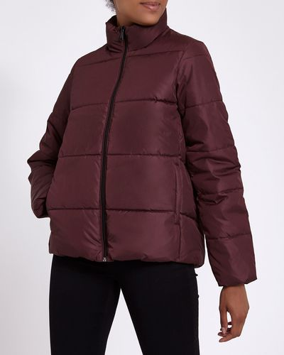Funnel Neck Padded Jacket thumbnail