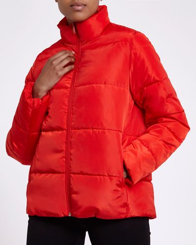 Funnel Neck Padded Jacket