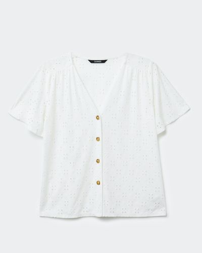 Button Broidery Top