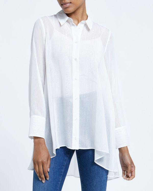 Longline Dip Hem Shirt