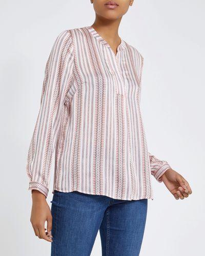 Patterned Stripe Blouse