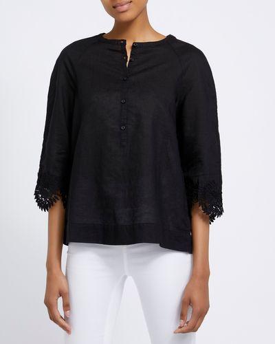 Detail Linen Blend Shirt