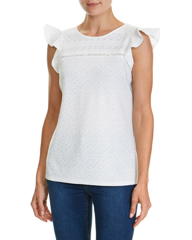 ivoryLace Frill Top