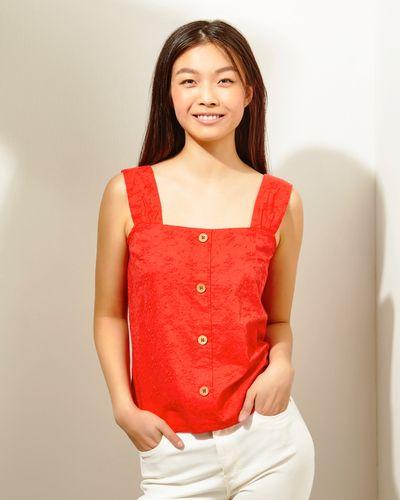 Embroidery Lace Detail Vest