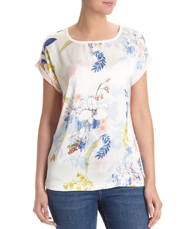 Floral Print Front Top