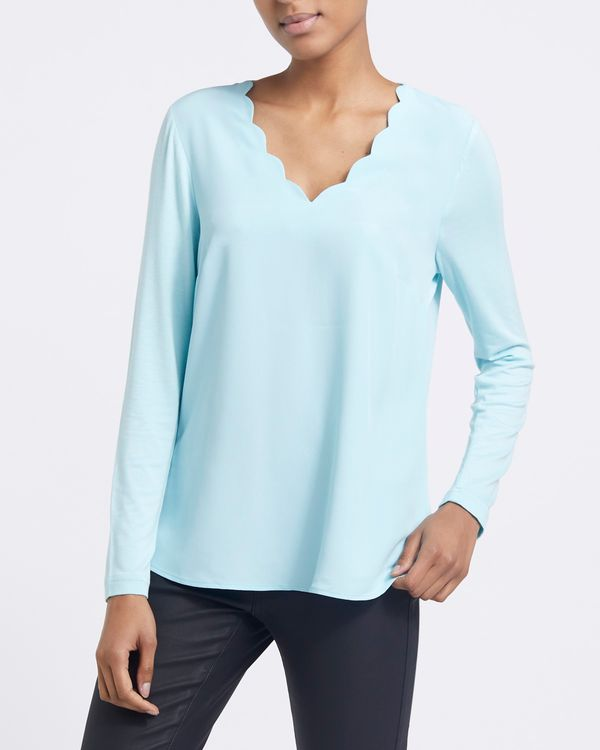 Scallop Jersey Top