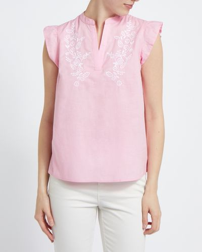 Embroidered Sleeveless Top thumbnail