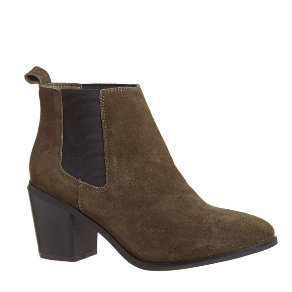 Savida Suede Khaki Chelsea Boots