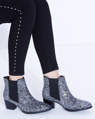 Savida Glitter Chelsea Boots thumbnail
