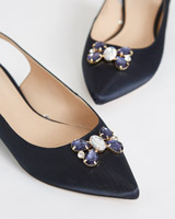 navy Savida Jewel Flat Shoes