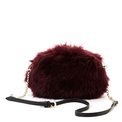 Savida Faux-Fur Cross Body Bag thumbnail