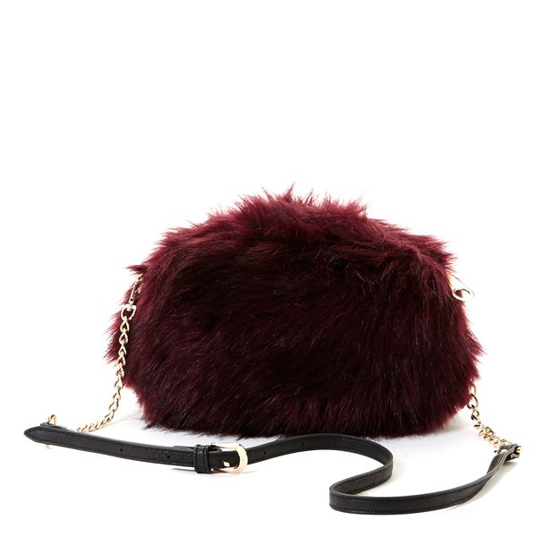 Savida Faux-Fur Cross Body Bag