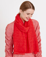 red Savida Slub Solid Scarf